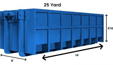 25 yard Dumpster